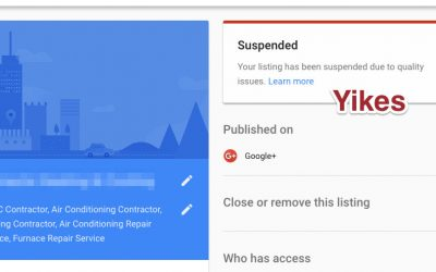 How to fix a suspended Google My Business listing